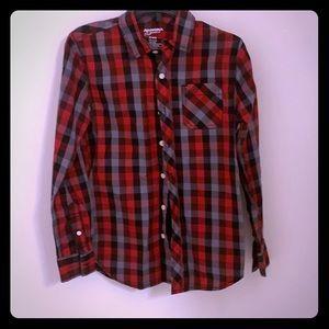 🔴5/$15 Arizona Jean Co Button Down Shirt M